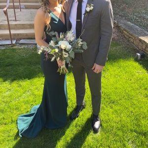 BHLDN Dark Emerald Jones Bridesmaid Dress